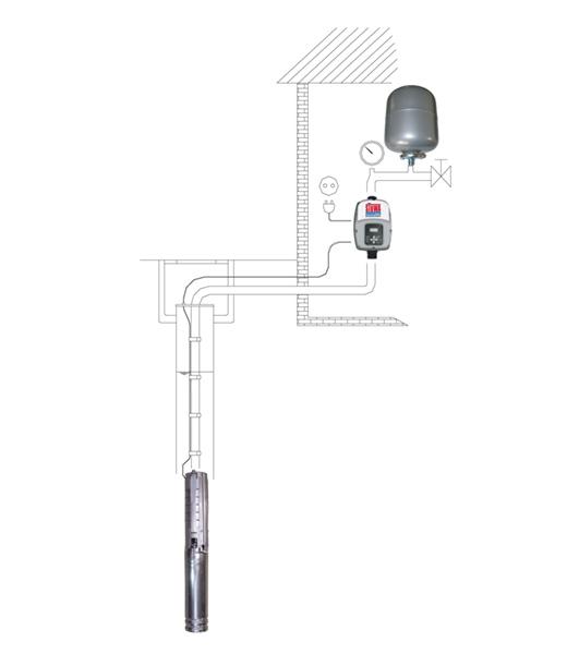 "STÜWA 4"" submersible pump STU4. CP"