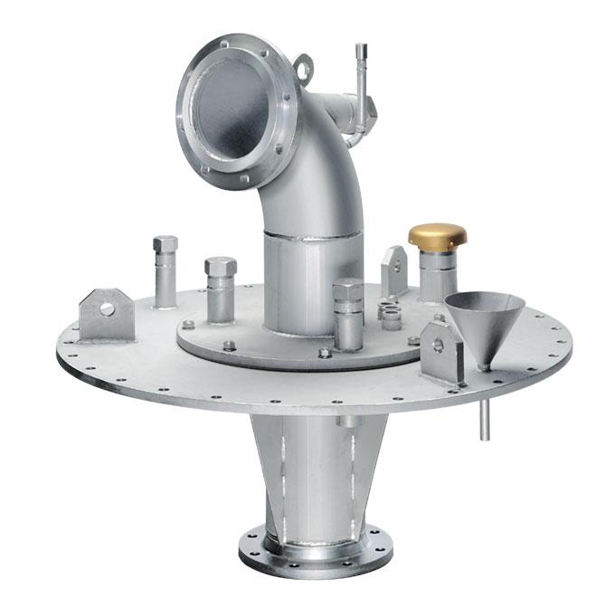 Couvercle de puits  avec 1 tête emboitée, fixation par bride