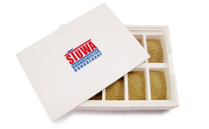 Boîte d'échantillons du sol