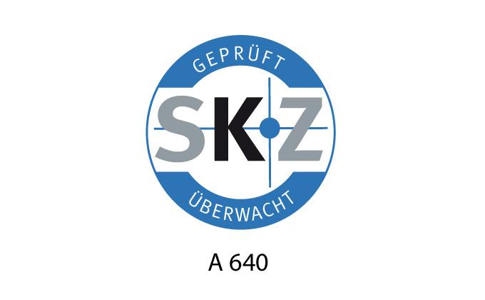 Zertifikat SKZ A640