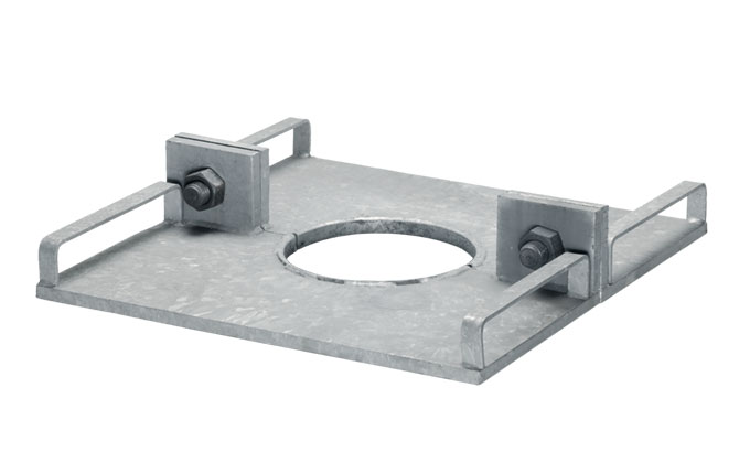 Steel support plate