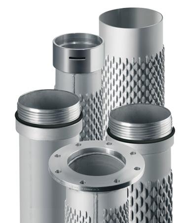 Filter u. Aufsatzrohre mit diversen Verbindungen